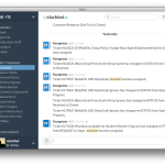 An example of Slack Notifications from Footprints